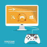Video game design. Video game  concept and multimedia icons design, vector illustration 10 eps graphic Royalty Free Stock Photo