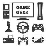 Video game entertaining icons Royalty Free Stock Photography