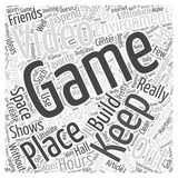 Video Game Environment of Your Own word clod concept. A Video Game Environment of Your Own Royalty Free Stock Photo