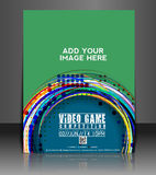 Video Game Flyer Design. Video Game Flyer & Poster Template Design Royalty Free Stock Images