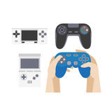Video game icons set. Collection of gaming devices Royalty Free Stock Photography
