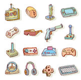 Video game icons set, doodle illustration Royalty Free Stock Image