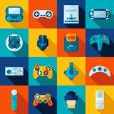 Video Game Icons Set Royalty Free Stock Photography