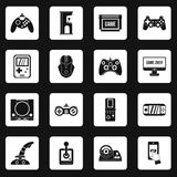 Video game icons set squares vector Royalty Free Stock Image