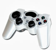 Video game joypad. White joypad isolated in white Royalty Free Stock Photography