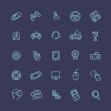 Video game and joystick icons set Stock Photos
