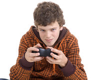 Video game lad stock photo