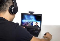 Video Game Live Streamer Stock Photos