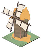 A video game object: an old windmill Stock Photo