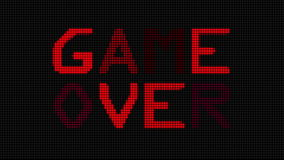 Video Game Over (HD) Royalty Free Stock Photos