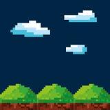 Video game pixel design stock illustration