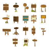 Video Game Pointers Collection. Video Game Pointers  Flat Vector Design Icons Set Of Isolated Items on White Background Stock Photography