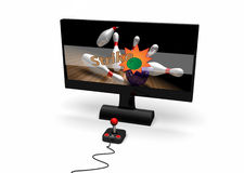 Video game on screen Royalty Free Stock Photo