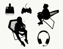 Video Game Silhouettes Royalty Free Stock Images