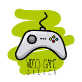 Video game sketch Stock Images