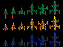 Video game space ship Stock Images