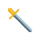 Video game sword pixelated icon Royalty Free Stock Images