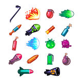 Video Game Weapon Collection royalty free illustration