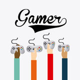 Video gamers Stock Image