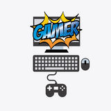 Video gamers Royalty Free Stock Photo
