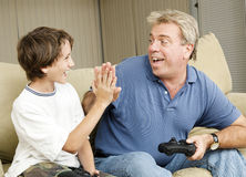 Video Gamers High Five Royalty Free Stock Photos