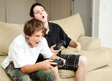 Video Gamers - Intensity Stock Image