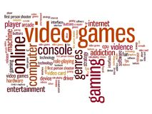 Video games. Concepts word cloud illustration. Word collage concept Royalty Free Stock Photography