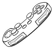 Console Video Games Controller. A video games console controller joy pad illustration Royalty Free Stock Photo
