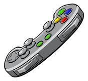 Video Games Console Controller. A video games console controller pad icon Stock Photography