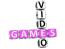 Video Games Crossword Royalty Free Stock Photos