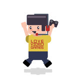 Video games design Stock Images
