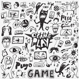 Video games doodles Stock Photography