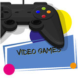 Video games flyer Royalty Free Stock Photo