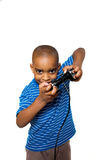 Video games fun 1. A young child having fun playing video games Stock Images