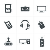 Video Games Icon Set Stock Photo