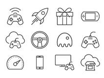 Video games icons Royalty Free Stock Images