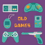 Video games icons Royalty Free Stock Photos