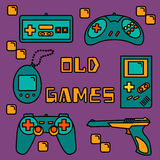 Video games icons Royalty Free Stock Image