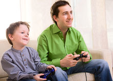 Video Games Playing Stock Image