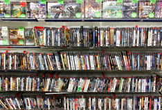 Video games store Stock Images