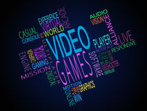 Video games terms together Stock Images