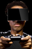 Video Games with VR Headset and Controller Royalty Free Stock Photos
