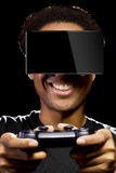 Video Games with VR Headset and Controller Stock Images