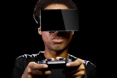 Video Games with VR Headset and Controller Royalty Free Stock Image