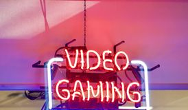 Video Gaming Center royalty free stock images