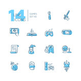 Video Gaming - line icons set Stock Photos
