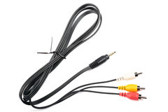 Video geïsoleerdel kabel. Royalty-vrije Stock Afbeelding