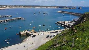 Video gestaltet Sagres-Hafen landschaftlich stock footage