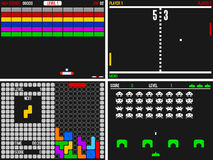 Video giochi della vecchia galleria Fotografie Stock Libere da Diritti