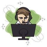 Video giochi, icona del gamer illustrazione vettoriale